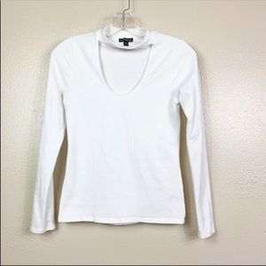Express white longsleeve top